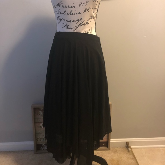 Topshop Dresses & Skirts - ⭐️ Topshop Asymmetrical Sheer Lined Black Skirt G2